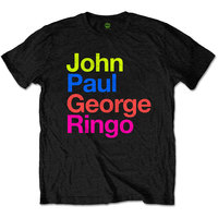 The Beatles JPG&R Pepper Suit Colours Mens Black T-Shirt (Small) - Cover