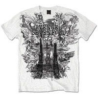 Avenged Sevefold Land of Cain Mens White T-Shirt (Small) - Cover