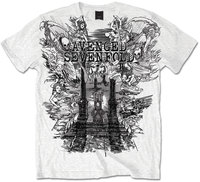 Avenged Sevenfold Land of Cain Mens White T-Shirt (X-Large) - Cover