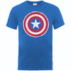 Captain America Distressed Shield Boys Royal Blue T-Shirt (12 - 13 Years)