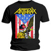 Anthrax Dread Eagle Mens Black T-Shirt (Large)