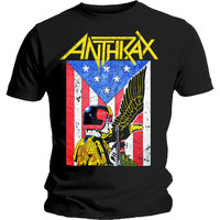 Anthrax Dread Eagle Mens Black T-Shirt (XX-Large) - Cover