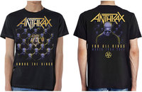 Anthrax Among The Kings Men's Black T-Shirt (X-Large) - Cover