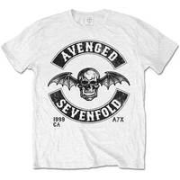 Avenged Sevenfold Moto Seal Mens White T-Shirt (Large) - Cover