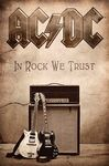 AC/DC In Rock We Trust (Textile Poster)