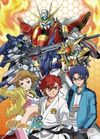Gundam Build Fighters Try - Group Fabric Poster