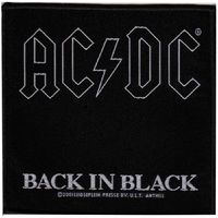 AC/DC Back In Black (Sew On Patch) - Cover