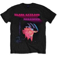 Black Sabbath Paranoid Motion Trails Mens Black T-Shirt (Medium)