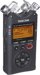 Tascam DR-40 4-Track Digital Field Recorder with Stereo Microphones (Black)