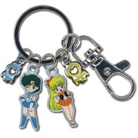 Sailor Moon - Sailor Mercury and Venus Metallic Key Chain
