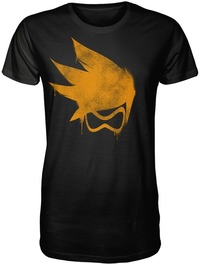 Overwatch - Tracer Spray Premium Mens T-Shirt (XXXX-Large) - Cover
