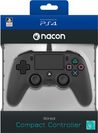NACON - Wired Compact Controller for PlayStation 4 - Black (PS4/PC) - Cover