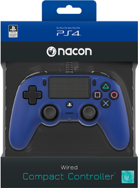 NACON - Wired Compact Controller for PlayStation 4 - Blue (PS4/PC) - Cover