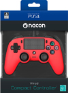 NACON - Wired Compact Controller for PlayStation 4 - Red (PS4/PC)