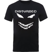 Disturbed Scary Face Candle Mens Black T-Shirt (Small) - Cover