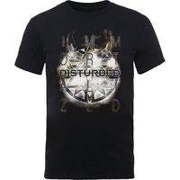 Disturbed Symbol Mens Black T-Shirt (Large) - Cover