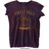 Ramones Forest Hills Vintage Ladies Burnout Navy/Red T-Shirt (Small)