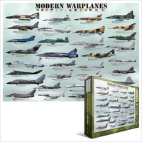 Eurographics Puzzle 1000 Pieces - Modern Warplanes - Cover
