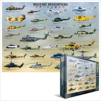 Eurographics Puzzle 1000 Pieces - Military Helicopters - Cover