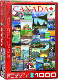 Eurographics - Travel Canada Vintage Ads Puzzle (1000 Pieces) - Cover
