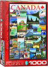 Eurographics - Travel Canada Vintage Ads Puzzle (1000 Pieces) Cover