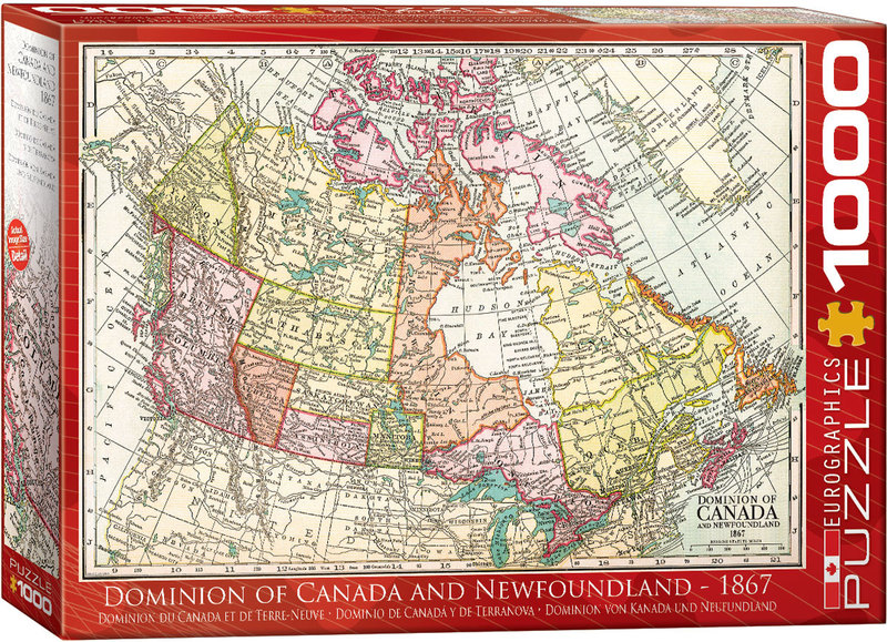 Map Of Canada Puzzle.Eurographics Antique Map Canada Newfoundland 1867 Puzzle 1000 Pieces