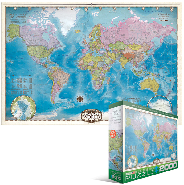 eurographics puzzle 2000 pieces map of the world