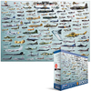 Eurographics - Evolution of Military Aircraft Puzzle (2000 Pieces)
