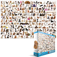 Eurographics - The World of Dogs Puzzle (2000 Pieces) - Cover