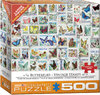 Eurographics Puzzle 500 Pieces - Vintage Stamps - Butterflies