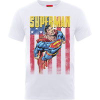Superman US Flight Boys White T-Shirt (9 -11 Years) - Cover