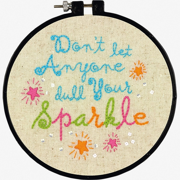 Dimensions Stamped Embroidery - Sparkle Stitch Wit