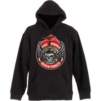 Five Finger Death Punch Bomber Patch Mens Black Pullover Hoodie (Small) - Cover