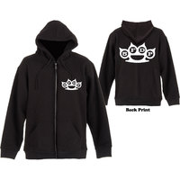 Five Finger Death Punch Knuckles Mens Black Zip Hoodie (Small) - Cover