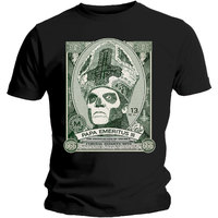 Ghost Papa Cash Mens Black T-Shirt (Small) - Cover