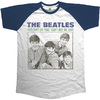 The Beatles You Can't Do That - Can't Buy Me Love Raglan Navy & White Mens T-Shirt (X-Large)