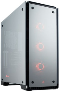 Corsair - Crystal 570X RGB Mirror Black Tempered Glass, Premium ATX Mid Tower Case