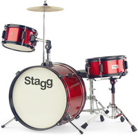 Stagg TIM JR 3/16 RD 3pc Junior Drum Kit (Red) - Cover