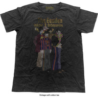 The Beatles Yellow Submarine Band Vintage Mens Black T-Shirt (Small) - Cover