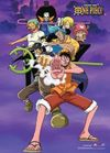 One Piece - Strawhat Pirates Fighting Pose Wall Scroll