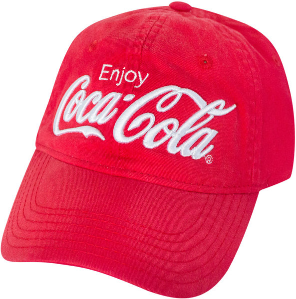 Coca-Cola - Washed Red Enjoy Dad Hat - Merch Online  ba0865ae34cb