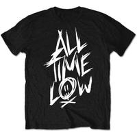 All Time Low Scratch Mens Black T-Shirt (Small)