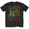 Bob Marley Rastaman Vibration Tour 1976 Mens Black T-Shirt (XX-Large)
