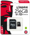 Kingston Technology - Canvas Select 256GB microSD Memory Card with SD adapter