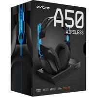 ASTRO Gaming - A50 3rd Generation Wireless Gaming 7.1 Headset + Base Station - Black/Blue (PC/Gaming)