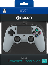 NACON - Wired Compact Controller for PlayStation 4 - Grey (PS4) - Cover