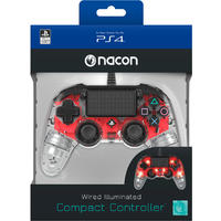 NACON - Wired Compact Controller for PlayStation 4 - Light Red (PS4)