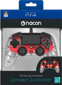 NACON - Wired Compact Controller for PlayStation 4 - Light Red (PS4) - Cover