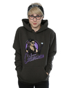 DC Comics Bombshells Catwoman Badge Ladies Charcoal Pullover Hoodie (Large)