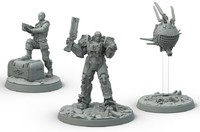 Fallout: Wasteland Warfare - Brotherhood of Steel: Knight-Captain Cade and Paladin Danse (Miniatures) - Cover